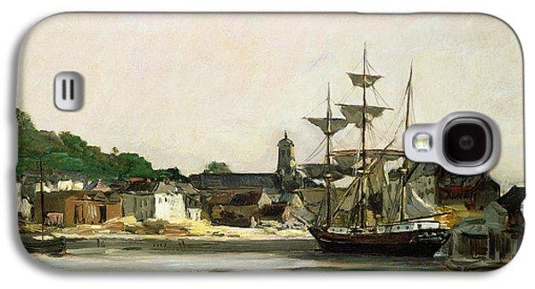 The Harbour At Honfleur Galaxy S4 Case by Karl Pierre Daubigny