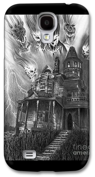 The Haunted House Galaxy S4 Case by Wave Art