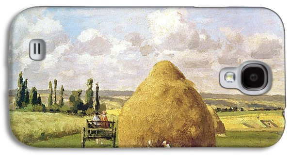 The Haystack Galaxy S4 Case by Camille Pissarro