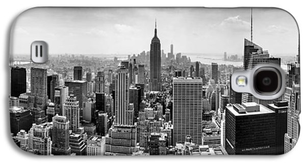 New York City Skyline Bw Galaxy S4 Case by Az Jackson