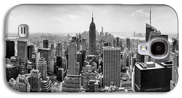 Skyline Galaxy S4 Case - New York City Skyline Bw by Az Jackson