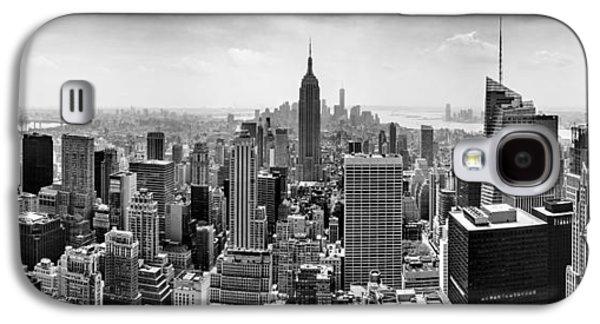 City Scenes Galaxy S4 Case - New York City Skyline Bw by Az Jackson