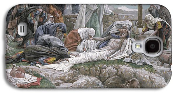 Receive Paintings Galaxy S4 Cases - The Holy Virgin Receives the Body of Jesus Galaxy S4 Case by Tissot