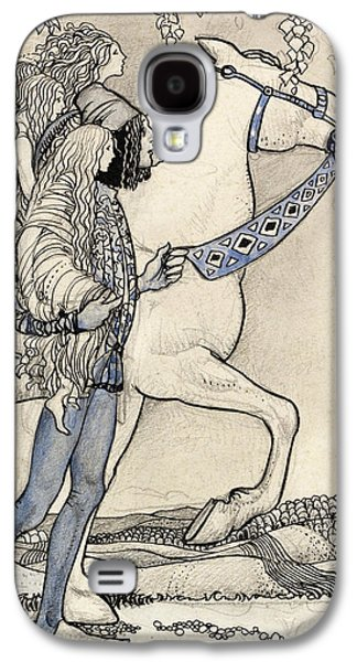 The Horse He Led At The Bit Galaxy S4 Case by John Bauer
