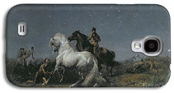 19th Century America Galaxy S4 Cases - The Horse Thieves Galaxy S4 Case by Ferdinand Victor Eugene Delacroix