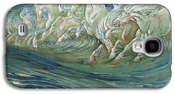 Wild Horse Paintings Galaxy S4 Cases - The Horses of Neptune Galaxy S4 Case by Walter Crane