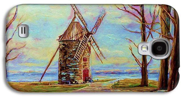 The Ile Perrot Windmill Moulin Ile Perrot Quebec Galaxy S4 Case by Carole Spandau