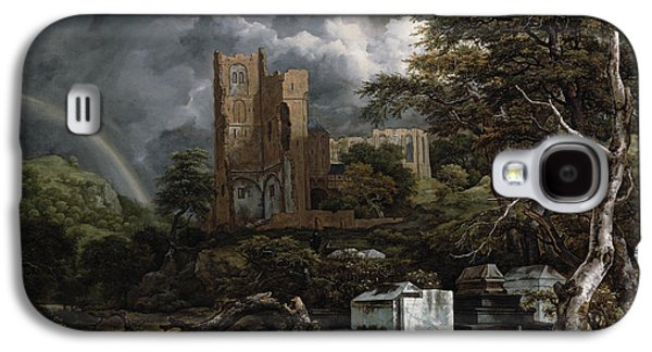 The Jewish Cemetery Galaxy S4 Case by Jacob Isaaksz Ruisdael
