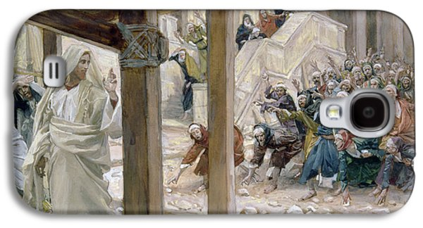 The Jews Took Up Stones To Cast At Him Galaxy S4 Case by Tissot