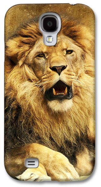 Lion Galaxy S4 Case - The King by Angela Doelling AD DESIGN Photo and PhotoArt