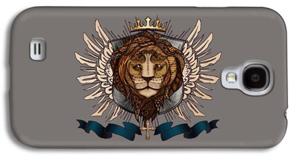 The King's Heraldry II Galaxy S4 Case by April Moen
