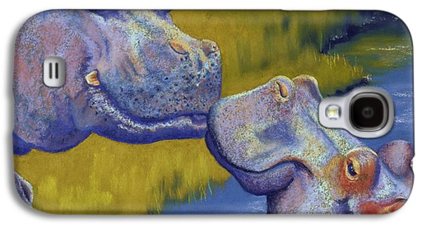 Hippopotamus Galaxy S4 Case - The Kiss - Hippos by Tracy L Teeter