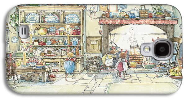 Mice Galaxy S4 Case - The Kitchen At Crabapple Cottage by Brambly Hedge