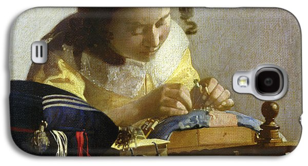 The Lacemaker Galaxy S4 Case by Jan Vermeer