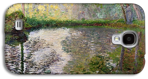 The Lake At Montgeron Galaxy S4 Case by Claude Monet