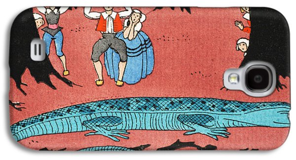 The Large Blue Lizard Galaxy S4 Case by Georges Barbier