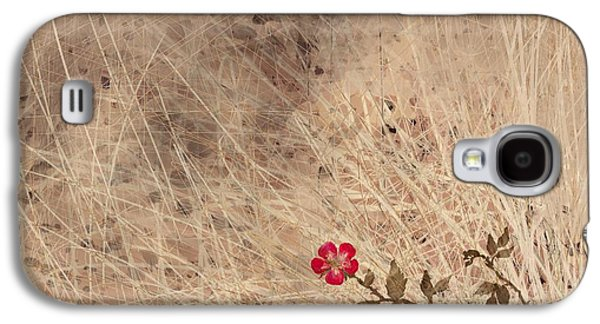 Abstract Landscape Digital Art Galaxy S4 Cases - The Last Blossom Galaxy S4 Case by Rachel Christine Nowicki