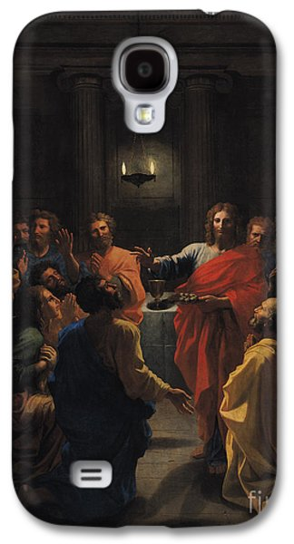 Blessings Paintings Galaxy S4 Cases - The Last Supper Galaxy S4 Case by Nicolas Poussin