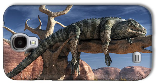 The Lazy Lizard Galaxy S4 Case by Daniel Eskridge