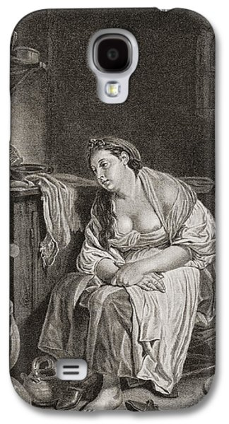 The Lazy Woman, After J.b. Greuze Galaxy S4 Case by Vintage Design Pics