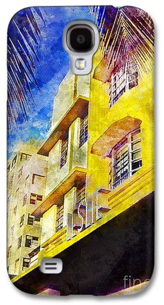 The Leslie Hotel South Beach Galaxy S4 Case by Jon Neidert