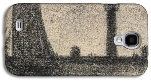 The Lighthouse At Honfleur Galaxy S4 Case by Georges Pierre Seurat