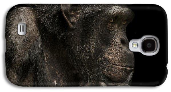 Chimpanzee Galaxy S4 Case - The Listener by Paul Neville