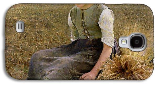 Rural Scenes Galaxy S4 Case - The Little Gleaner by Hugo Salmson