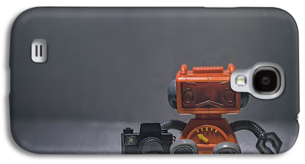 The Lonely Robot Photographer Galaxy S4 Case by Scott Norris