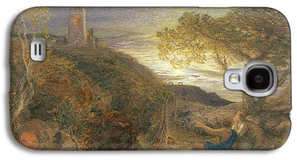 Mountain Valley Galaxy S4 Cases - The Lonely Tower Galaxy S4 Case by Samuel Palmer
