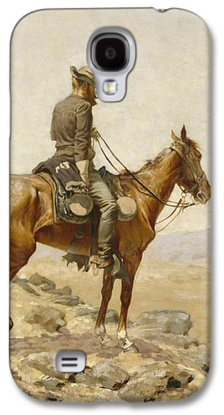 The Lookout Galaxy S4 Case by Frederic Remington