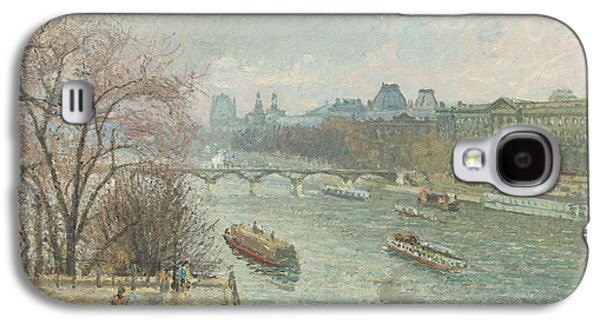 Louvre Galaxy S4 Case - The Louvre, Afternoon, Rainy Weather, 1900  by Camille Pissarro