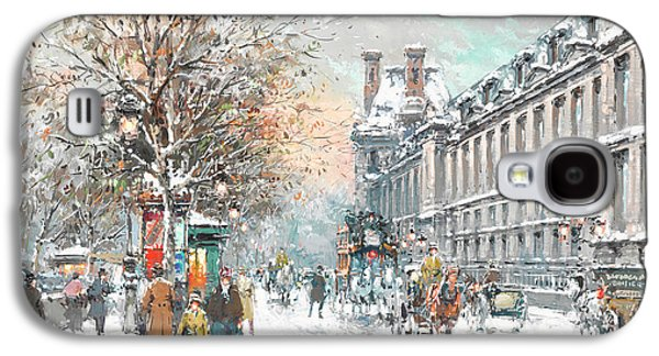 Louvre Galaxy S4 Case - The Louvre-winter by Antoine Blanchard