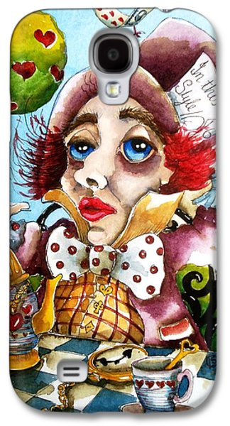 The Mad Hatter Galaxy S4 Case by Lucia Stewart