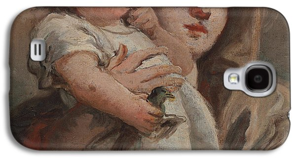 The Madonna And Child With A Goldfinch Galaxy S4 Case by Tiepolo