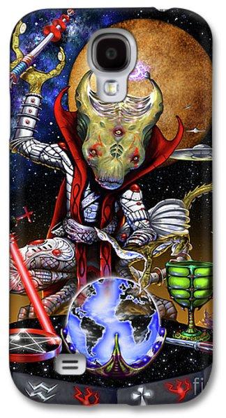 The Magician 78 Tarot Astral Card Galaxy S4 Case