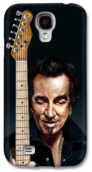 The Man And His Guitar Galaxy S4 Case by Arie Van der Wijst