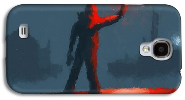 The Man With The Flare Galaxy S4 Case by Pixel  Chimp