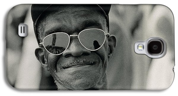 The March On Washington  A Smiling Man At Washington Monument Grounds Galaxy S4 Case by Nat Herz
