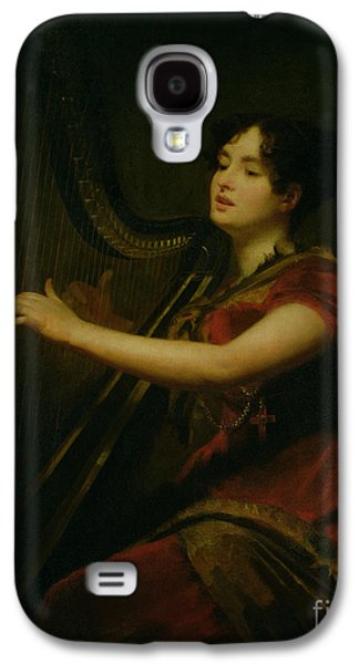 The Marchioness Of Northampton Playing A Harp Galaxy S4 Case