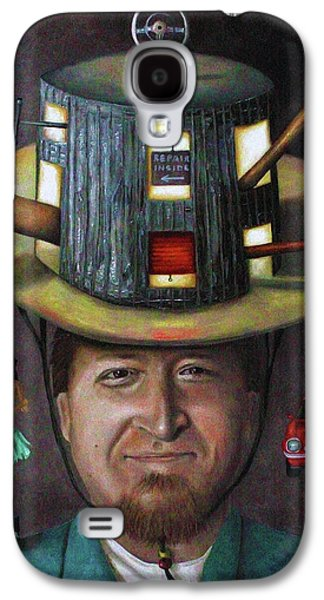 The Mechanic Part Of The Thinking Cap Series Galaxy S4 Case by Leah Saulnier The Painting Maniac