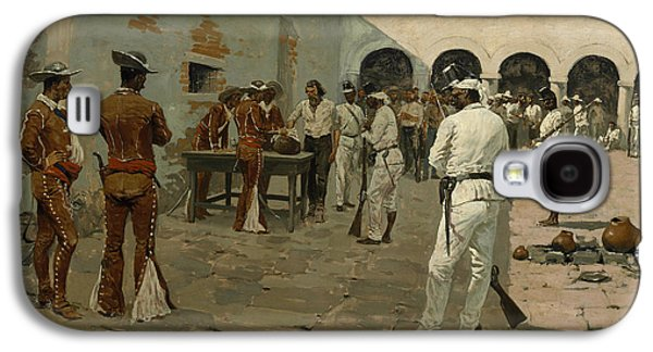The Mier Expedition The Drawing Of The Black Bean  Galaxy S4 Case by Frederic Remington