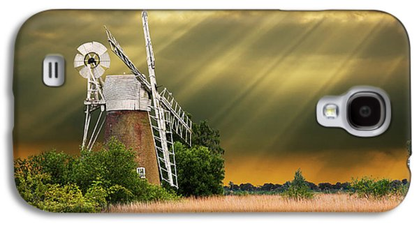 Windmill Galaxy S4 Cases - The Mill On The Marsh Galaxy S4 Case by Meirion Matthias