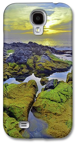 The Mossy Rocks At Sunset Galaxy S4 Case by Tara Turner