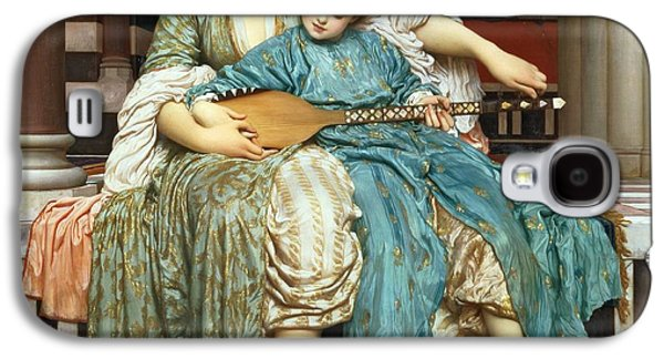 The Music Lesson Galaxy S4 Case by Frederic Leighton