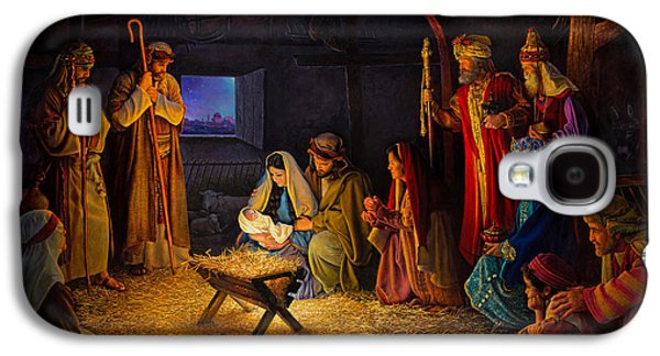 The Nativity Galaxy S4 Case by Greg Olsen