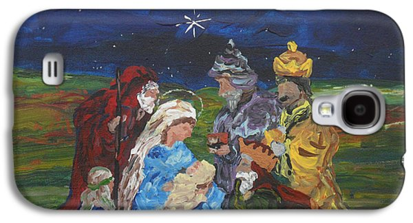 Holiday Paintings Galaxy S4 Cases - The Nativity Galaxy S4 Case by Reina Resto
