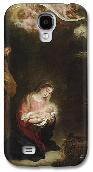 The Nativity With The Annunciation To The Shepherds Beyond Galaxy S4 Case