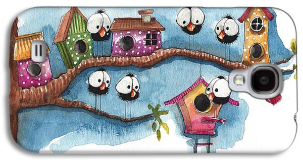The New Neighbor Galaxy S4 Case by Lucia Stewart