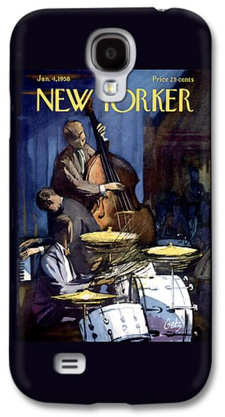 Drum Galaxy S4 Case - The New Yorker Cover - January 4th, 1958 by Arthur Getz